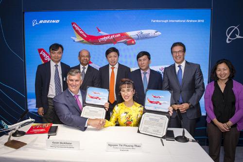 Vietjet Air mua thêm 100 máy bay Boeing