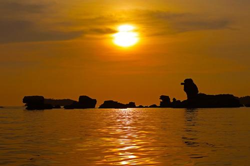 Ngắm hoàng hôn Phú Quốc đẹp kỳ ảo từ trên cao