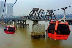 Hà Nội bác đề xuất làm cáp treo vượt sông Hồng