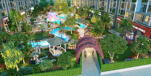Imperia Sky Garden hút khách nhờ vị trí trung tâm