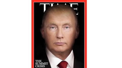 Ảnh bìa Time hợp nhất mặt Trump - Putin