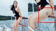 Thu Minh tím bầm chân trong bộ ảnh 'nóng rẫy'