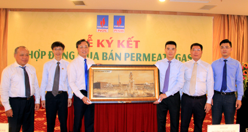 PV Gas kí hợp đồng mua bán khí permeate gas với PVCFC