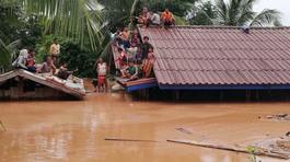 Hình ảnh đông nam Lào tan hoang vì vỡ đập thủy điện