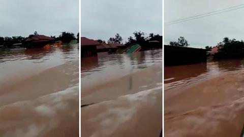 vỡ đập thủy điện Lào