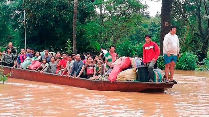 Vỡ thủy điện ở Lào,vỡ đập thủy điện,đập thủy điện
