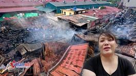 Cháy chợ Gạo: Tiền tỷ hóa tro tàn, nữ tiểu thương khóc ngất