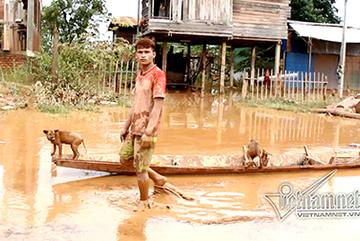 Vỡ đập thủy điện ở Lào: Quánh bùn đất bên trong rốn lũ Attapeu