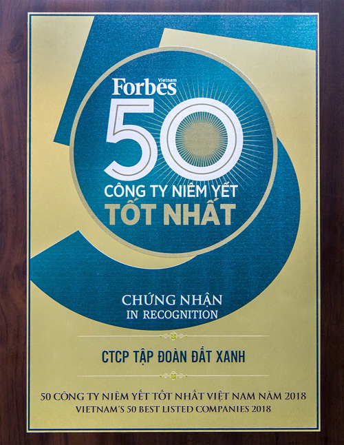 Đất Xanh-Top 50 công ty niêm yết tốt nhất Việt Nam