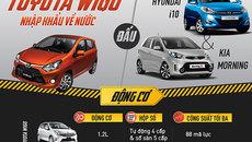 Ô tô 300 triệu: Toyota Wigo đấu Hyundai i10 và Kia Morning