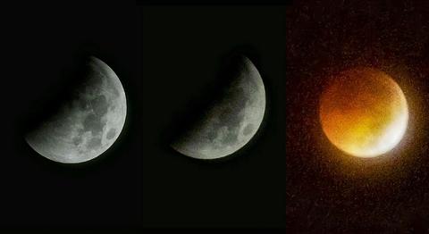 Cận cảnh mặt trăng bị nuốt - nguyệt thực ở Trà Vinh