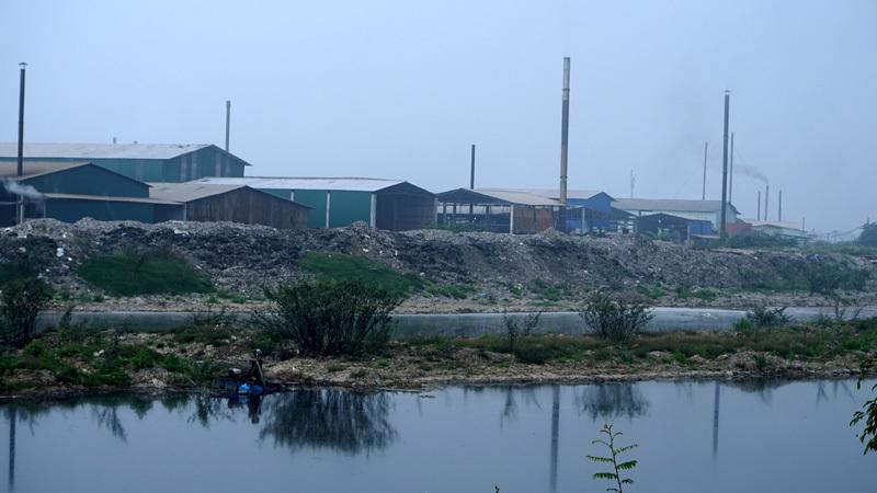 dự án chậm tiến độ,sông Ngũ Huyện Khê,Bắc Ninh,nhà thầu,ô nhiễm môi trường