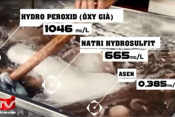 Hà Nội: Những chất cấm nào có trong bạch tuộc tẩy trắng vừa bị phanh phui