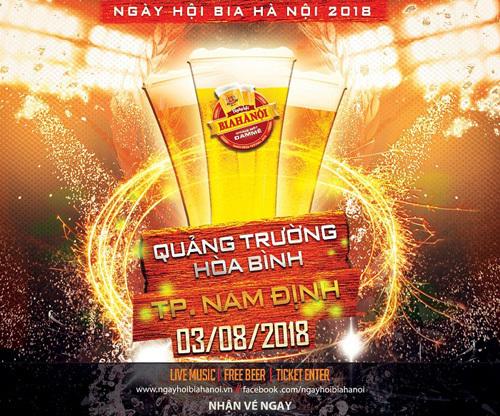 Ngày hội bia Hà Nội lần đầu đến Nam Định