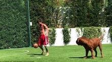 """Xem Messi tập luyện với """"quân xanh"""" đặc biệt"""