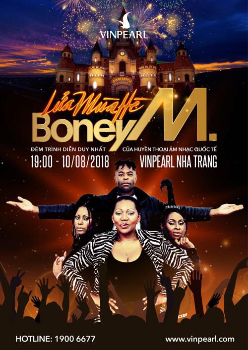 'Lửa mùa hè' - liveshow Boney M duy nhất ở Việt Nam
