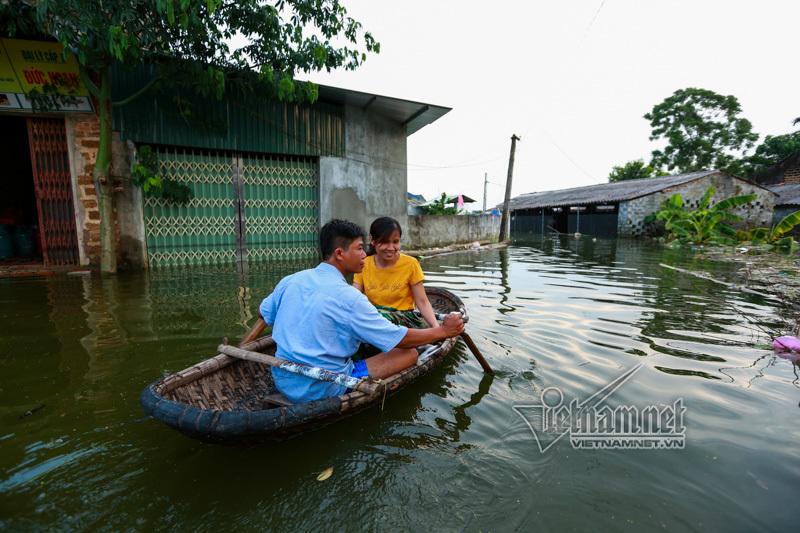 mưa lũ,ngập lụt,Hà Nội,ngập lụt ở Chương Mỹ