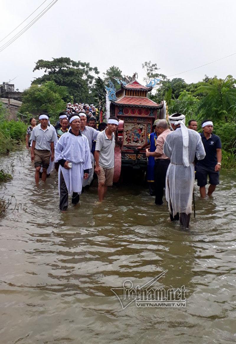 ngập lụt ở Chương Mỹ,Hà Nội,mưa lũ,ngập lụt
