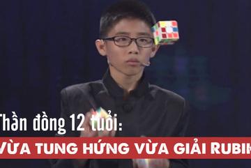 Thần đồng 12 tuổi vừa tung hứng vừa giải rubik lập kỷ lục Guinness Thế giới