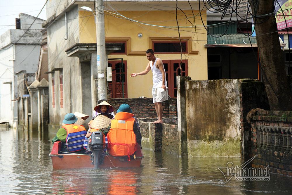Ngập lụt ở Chương Mỹ,Ngập lụt ở Hà Nội,Hà Nội,ngập lụt,Ngập lụt ở Quốc Oai