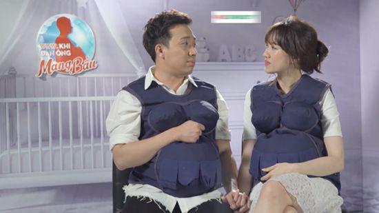 Khi đàn ông mang bầu,Hương Giang Idol,Trấn Thành,Hari Won,Trường Giang,Kỳ Duyên