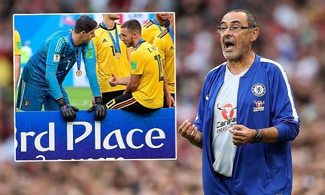 Chelsea quyết trói chặt Hazard và Courtois