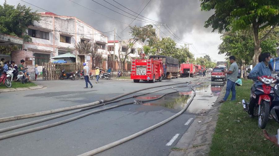 hỏa hoạn,cháy lớn,cháy lớn ở TP.HCM,cháy khu công nghiệp,KCN Nhị Xuân