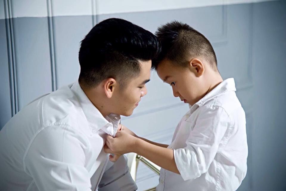 Chồng mới của Lê Phương rất thân thiết với con trai của chị.