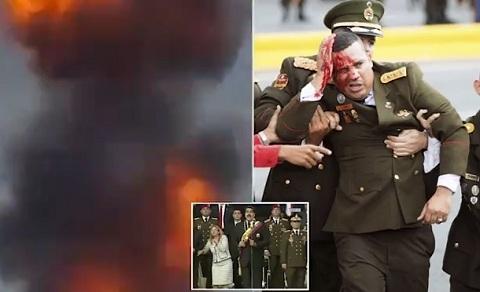 Khoảnh khắc máy bay không người lái nghi mưu sát TT Venezuela nổ tung