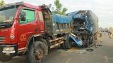 Phanh gấp tránh bò, 3 xe tải tông liên hoàn trên quốc lộ