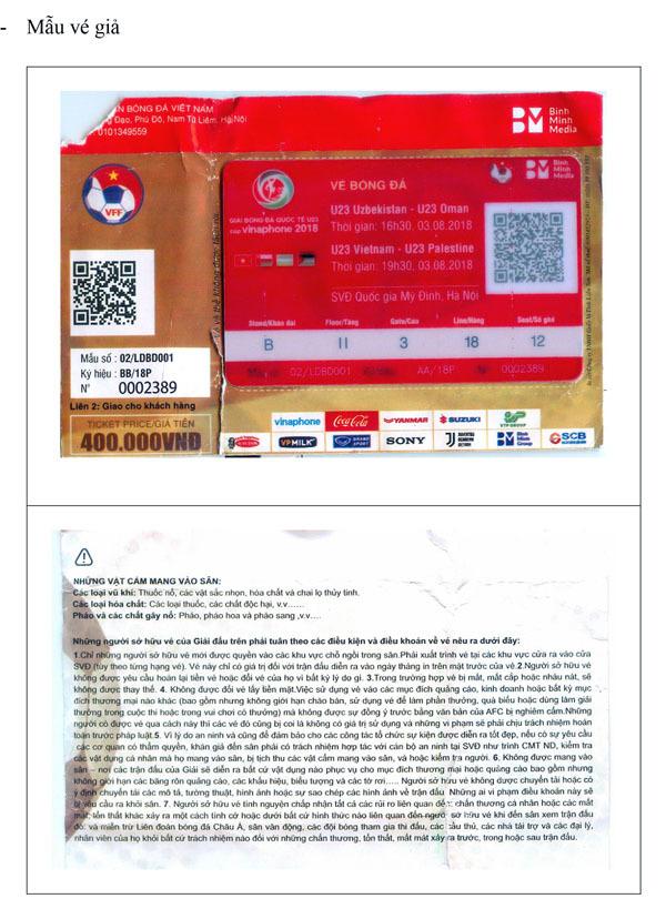 Sốt vé trận U23 Việt Nam - U23 Uzbekistan, vé giả xuất hiện
