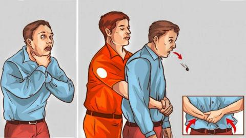 thủ thuật heimlich sơ cứu trẻ hóc dị vật đường thở