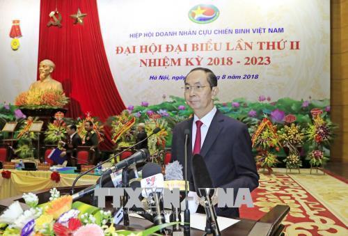 Chủ tịch nước biểu dương các doanh nhân cựu chiến binh