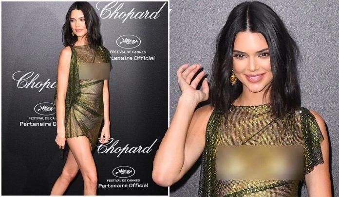 Siêu mẫu Kendall Jenner để ngực trần xuất hiện trên tạp chí
