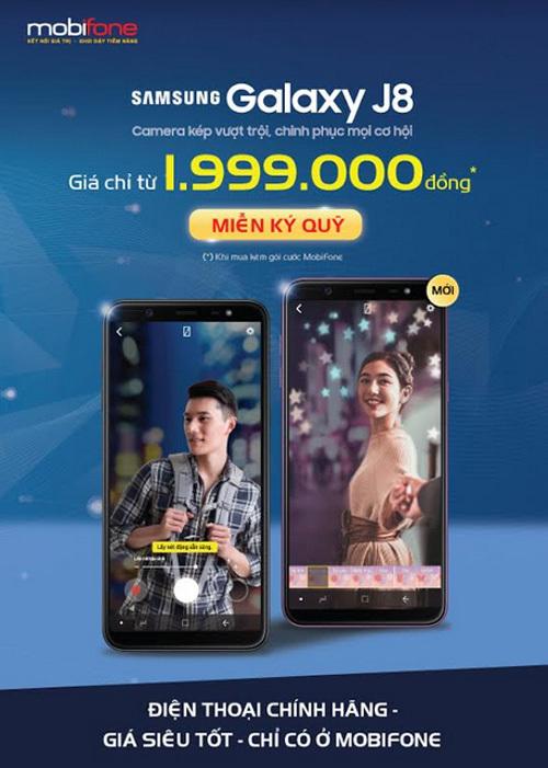 'Hời' gấp đôi khi mua Samsung Galaxy J8 từ MobiFone