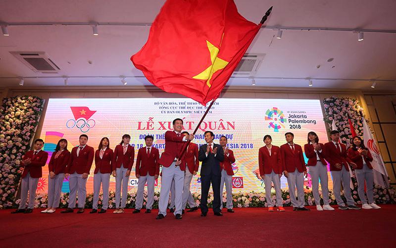Tưng bừng lễ xuất quân dự Asiad, Bộ trưởng giao nhiệm vụ cho đoàn TTVN