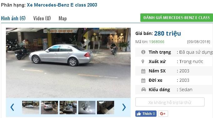 Mercedes,ô tô cũ,xe sang,xe cũ giá rẻ