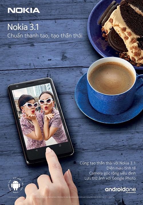 Nokia 3.1: thời thượng, mạnh mẽ, 'giá mềm'