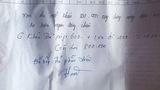 Mẩu giấy viết tay quyền lực của trưởng thôn ở Hà Tĩnh