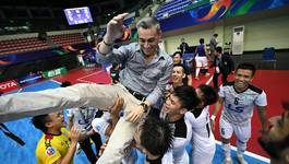 Cầu thủ Thái Sơn Nam vỡ òa cảm xúc với chiến tích lịch sử