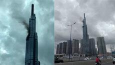 Khói đen bốc lên từ tòa nhà Landmark 81 cao nhất Việt Nam