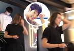 Fan bất ngờ nhận ra Kim Woo Bin tóc dài, đi cà phê cùng Lee Jong Suk