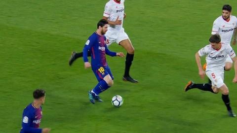 Messi vs Sevilla ở Siêu Cúp