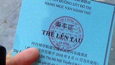 Thẻ lên tàu Cát Linh-Hà Đông in chữ Trung Quốc: Lời thừa nhận của tổng thầu