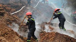 Bãi dăm gỗ xuất khẩu trăm tỉ cháy ngùn ngụt