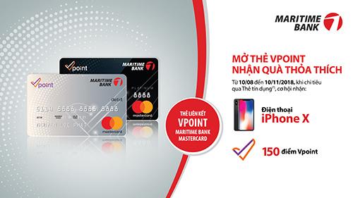 Thẻ Vpoint-Maritime Bank: Tích điểm muôn nơi, chi tiêu cực hời