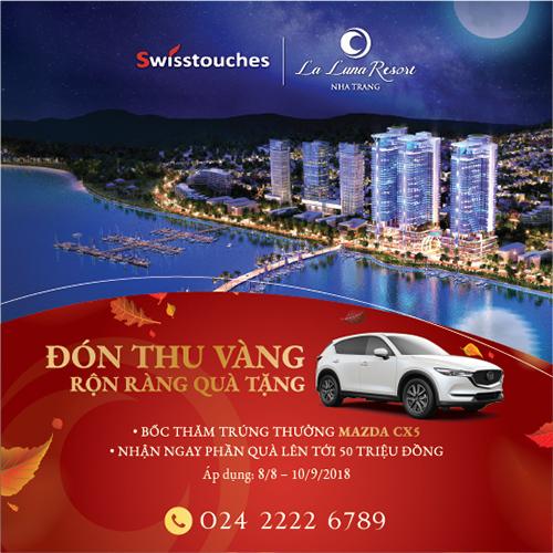 Sinh lời trọn đời với condotel Swisstouches La Luna Resort Nha Trang