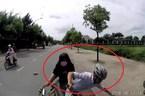Tránh xe máy đánh võng, thanh niên chở bạn gái đâm trực diện ô tô