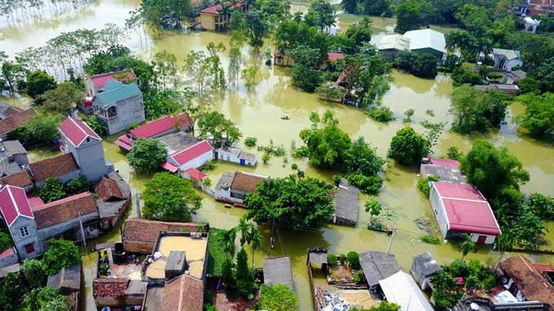 Bão số 4: Miền Bắc mưa dồn dập 3 ngày, Chương Mỹ nguy cơ lụt tiếp