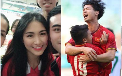 Hòa Minzy cổ vũ U23 Việt Nam